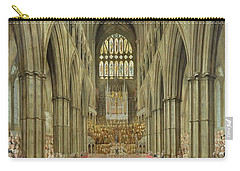An Interior View Of Westminster Abbey On The Commemoration Of Handel's Centenary Carry-all Pouch by Edward Edwards