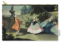 An Ornamental Garden With A Young Girl Dancing To A Fiddle Carry-all Pouch by Filippo Falciatore