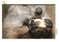 Animal - Woodchuck - Eating Carry-all Pouch by Paul Ward