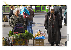 Babushkas. Moscow Russia Carry-all Pouch by Juli Scalzi