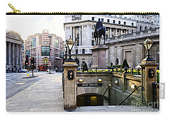 Bank Station Entrance In London Carry-all Pouch by Elena Elisseeva