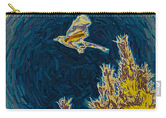 Bluejay Gone Wild Carry-all Pouch by Trish Tritz