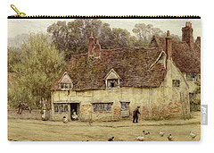 By The Old Cottage Carry-all Pouch by Helen Allingham