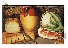 Cat Mouse Bacon And Cheese Carry-all Pouch by Anonymous