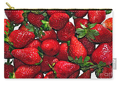 Deliciously Sweet Strawberries Carry-all Pouch by Kaye Menner