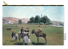 Donkey Ride Carry-all Pouch by Camille Pissarro