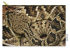 Eastern Diamondback Rattlesnake Carry-all Pouch by Gerry Ellis
