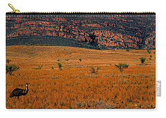 Emu Dreaming Carry-all Pouch by Bruce J Robinson