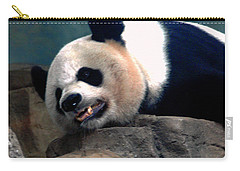 Exhausted Panda Carry-all Pouch by LeeAnn McLaneGoetz McLaneGoetzStudioLLCcom