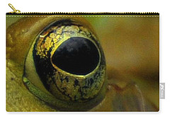 Eye Of Frog Carry-all Pouch by Paul Ward