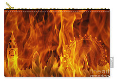 fire London skyline Carry-all Pouch by Michal Boubin