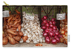 Food - Vegetable - Sweet Potatoes-garlic- And Onions - Yum  Carry-all Pouch by Mike Savad