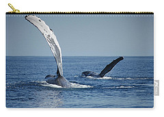 Humpback Whale Pectoral Slap Maui Carry-all Pouch by Flip Nicklin