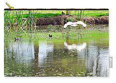 Ibis Over His Reflection Carry-all Pouch by Kaye Menner