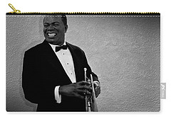 Louis Armstrong Bw Carry-all Pouch by David Dehner