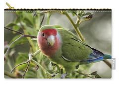 Lovely Little Lovebird Carry-all Pouch by Saija  Lehtonen