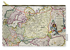 Map Of Asia Minor Carry-all Pouch by Nicolaes Visscher