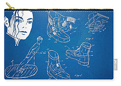 Michael Jackson Anti-gravity Shoe Patent Artwork Carry-all Pouch by Nikki Marie Smith