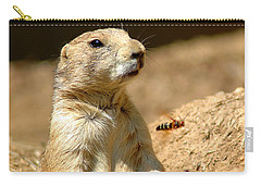 Prarie Dog Bee Alert Carry-all Pouch by LeeAnn McLaneGoetz McLaneGoetzStudioLLCcom