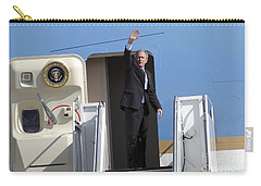 President George Bush Waves Good-bye Carry-all Pouch by Stocktrek Images