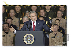 President George W. Bush Speaks Carry-all Pouch by Stocktrek Images