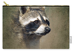 Raccoon 1 Carry-all Pouch by Betty LaRue