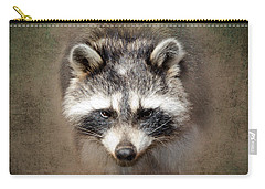 Raccoon 2 Carry-all Pouch by Betty LaRue