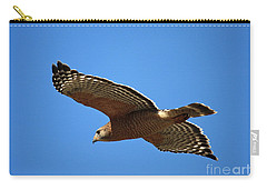 Red Shouldered Hawk In Flight Carry-all Pouch by Carol Groenen