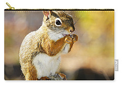 Red Squirrel Carry-all Pouch by Elena Elisseeva
