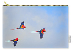 Scarlet Macaws Carry-all Pouch by Tony Beck