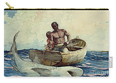 Shark Fishing Carry-all Pouch by Winslow Homer