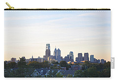 Skyline View Of Philadelphia Carry-all Pouch by Bill Cannon