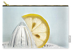 Still Life With A Half Slice Of Lemon Carry-all Pouch by Priska Wettstein