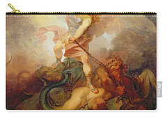 The Angel Binding Satan Carry-all Pouch by Philip James de Loutherbourg