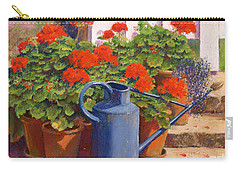 The Blue Watering Can Carry-all Pouch by Anthony Rule