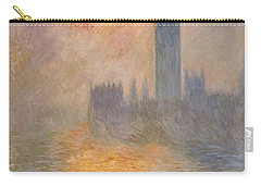 The Houses Of Parliament At Sunset Carry-all Pouch by Claude Monet