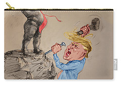 Trump Shaping Up The Future Carry-all Pouch by Ylli Haruni