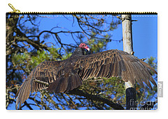 Turkey Vulture With Wings Spread Carry-all Pouch by Sharon Talson