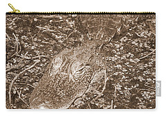 Welcome To The Swamp - Sepia Carry-all Pouch by Carol Groenen