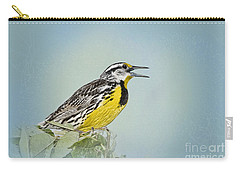 Western Meadowlark Carry-all Pouch by Betty LaRue