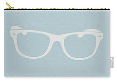 White Glasses Carry-all Pouch by Naxart Studio
