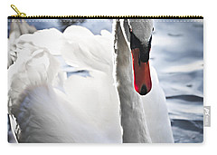 White Swan Carry-all Pouch by Elena Elisseeva