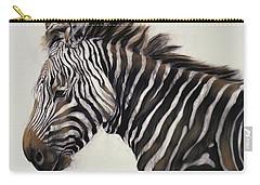 Zebra  Carry-all Pouch by Odile Kidd