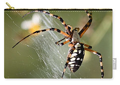 Zipper Spider In The Swamp Carry-all Pouch by Carol Groenen
