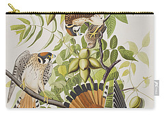 American Sparrow Hawk Carry-all Pouch by John James Audubon