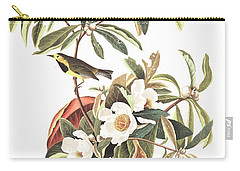Bachman's Warbler  Carry-all Pouch by John James Audubon