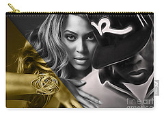 Beyonce Jay Z Collection Carry-all Pouch by Marvin Blaine