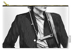 Bob Dylan Drawing Art Poster Carry-all Pouch by Kim Wang