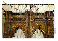 Brooklyn Bridge Twilight Carry-all Pouch by Jessica Jenney