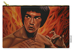 Bruce Lee Enter The Dragon Carry-all Pouch by Paul Meijering